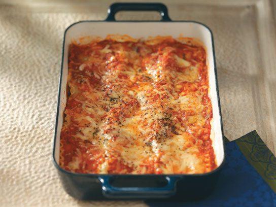 makeover beef sausage lasagna