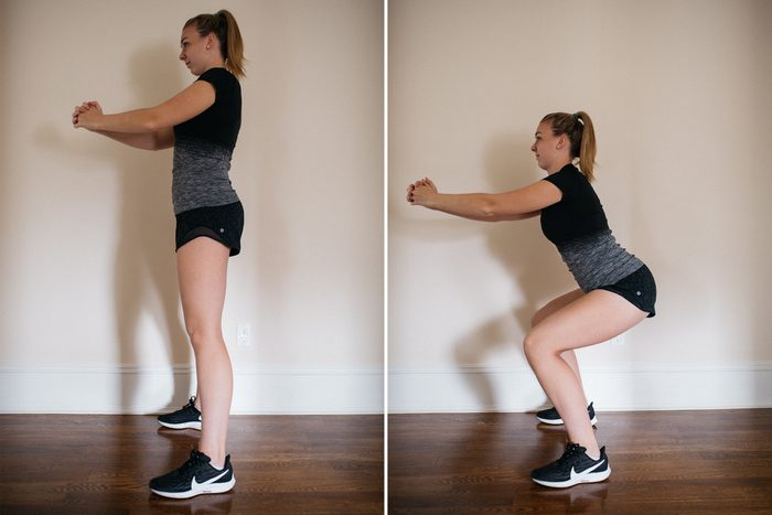 basic squat at home exercise