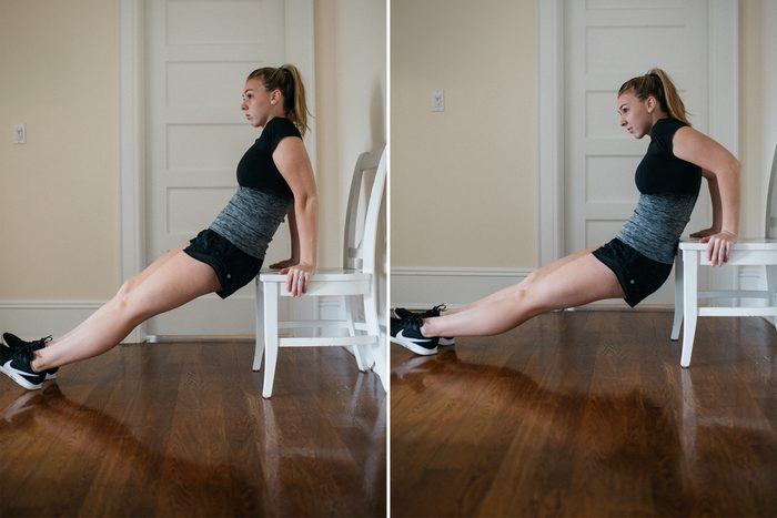 classic chair dip exercise