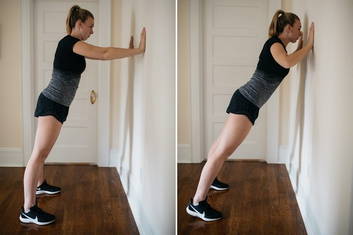 wall push up home workout