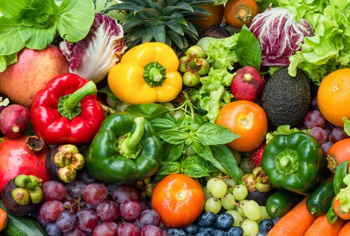 assortment of colorful fruits and vegetables
