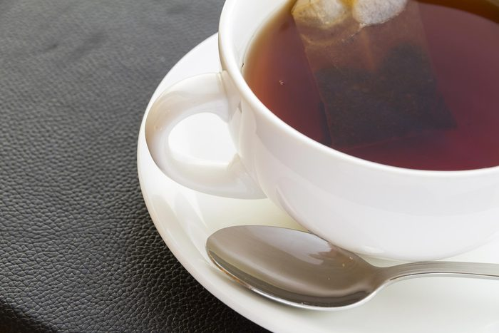 cup of tea with spoon