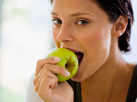 what happens when, woman eating apple
