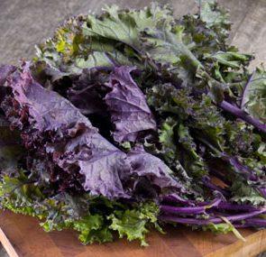 Kale on chopping board