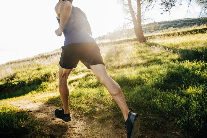 man running outside for exercise