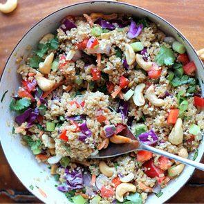 Crunchy thai cashew and quinoa salad