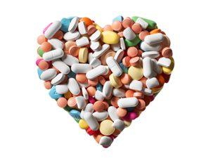 pills in heart shape