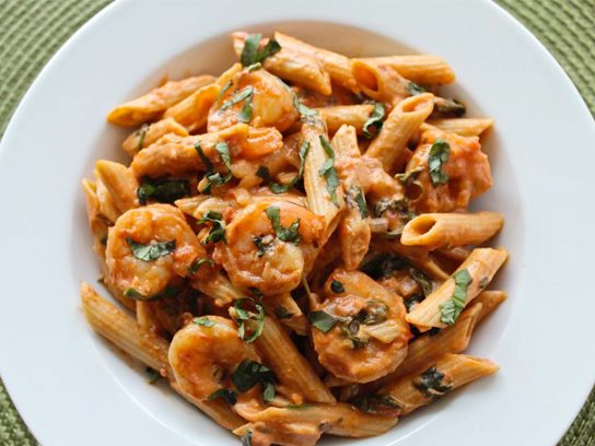 shrimp and penne