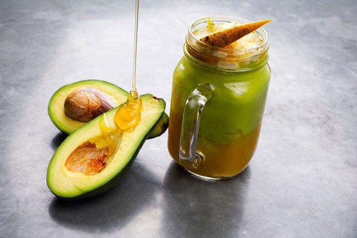 honey and avocado and avocado smoothie