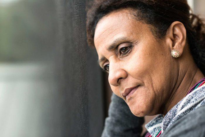 mature depressed woman