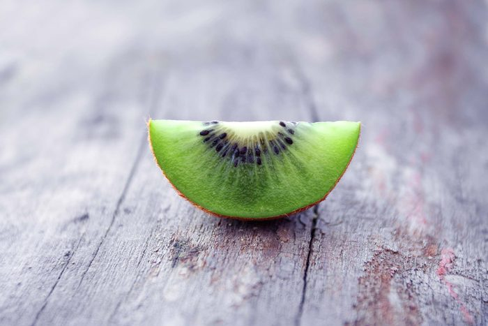 wedge of green kiwi