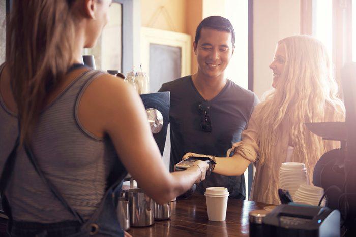 couple at cash register