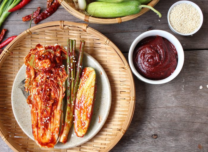 Kimchi on a plate
