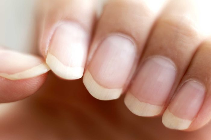 close up of manicured nails