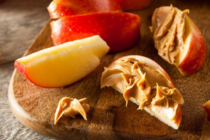 keep holiday pounds off apple peanut butter