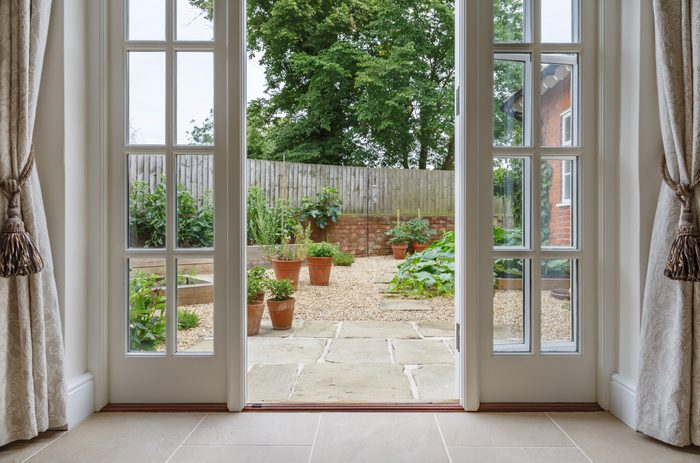 view of backyard from inside home