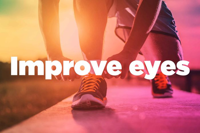 """Text on background image of runner: """"Improve eyes."""""""