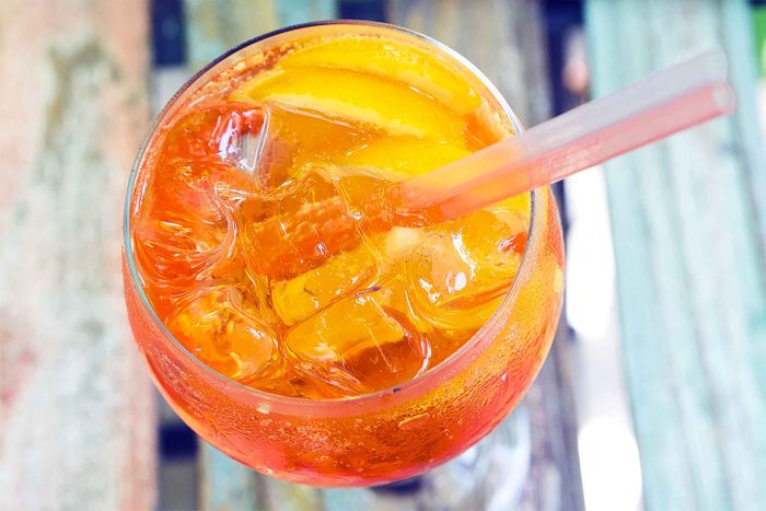 glass of orange drink