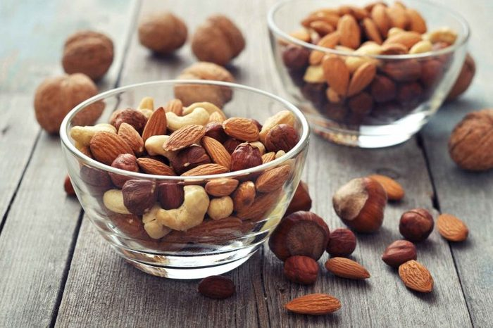 bowls of mixed nuts
