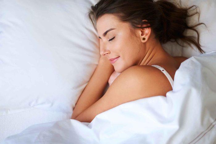 Woman sleeping soundly.