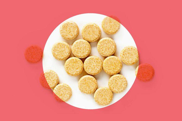 orange vitamin C tablets