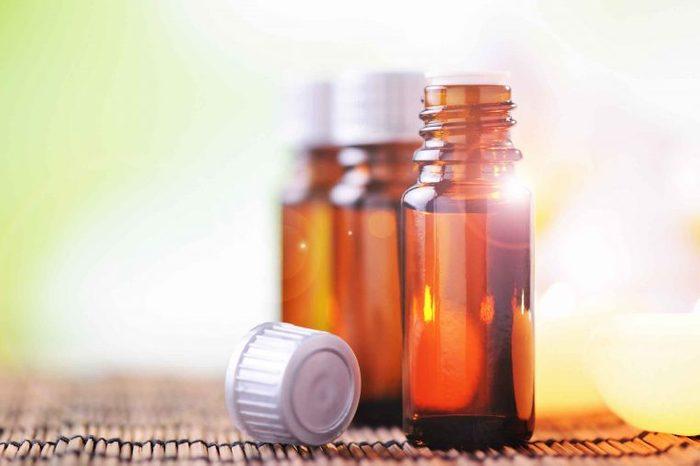 Vials of tea tree oil