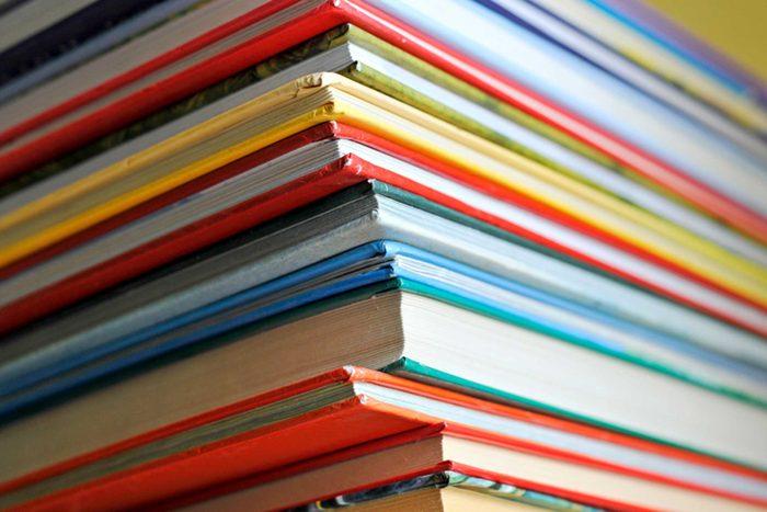 stack of children's books