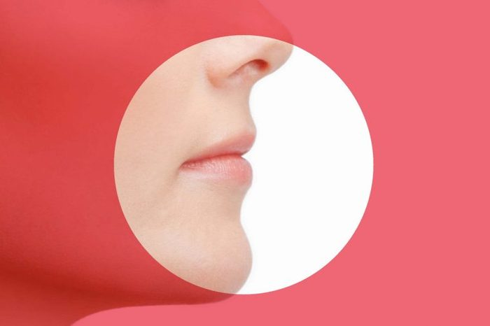 woman breathing through her nose