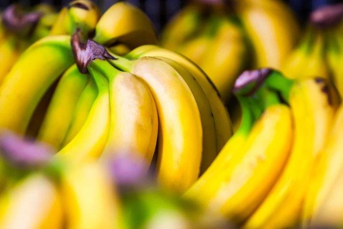 bunches of yellow bananas
