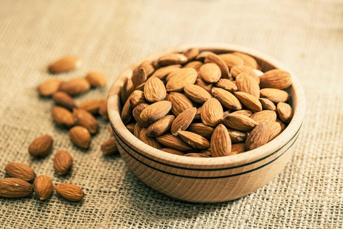 bowls of almonds