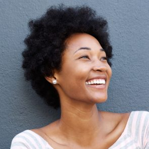 candid portrait of a woman smiling