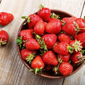 fresh bowl of strawberries