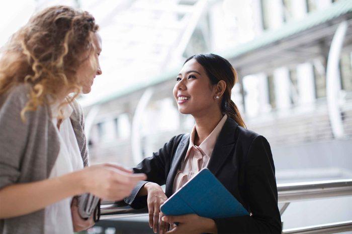woman seeking advice from friend