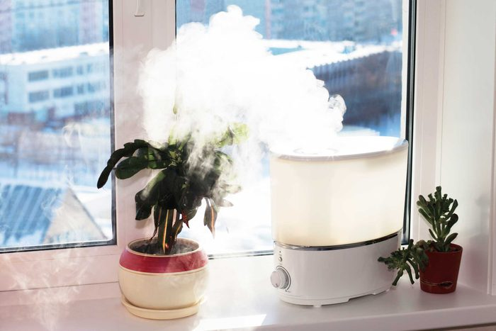 Vaporizer emitting steam.