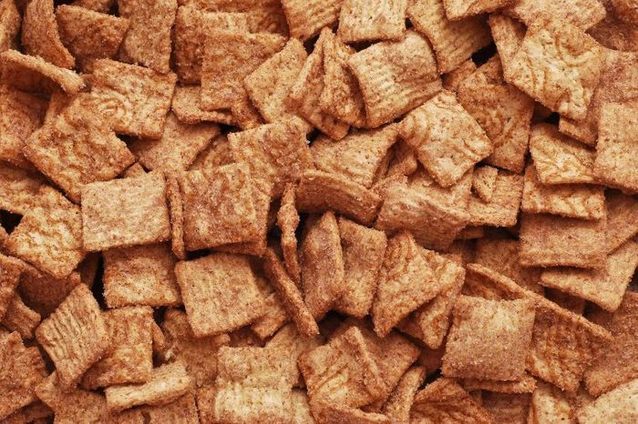 A picture of cinnamon-swirl cereal.