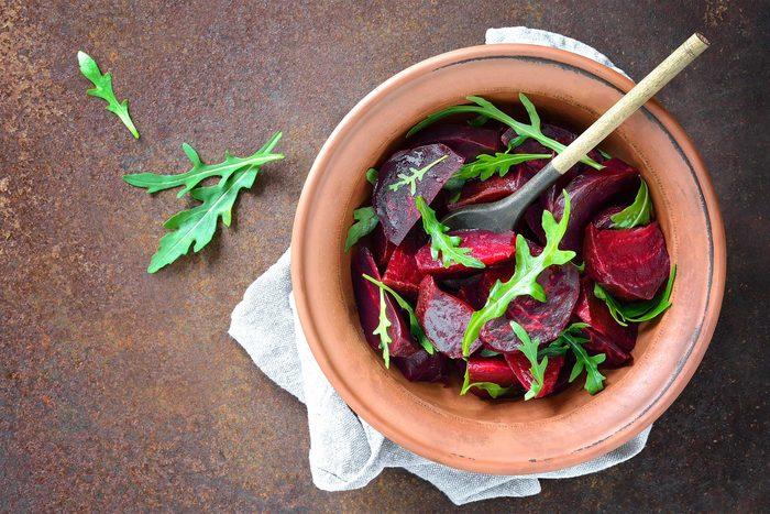 bowl of beets and greens