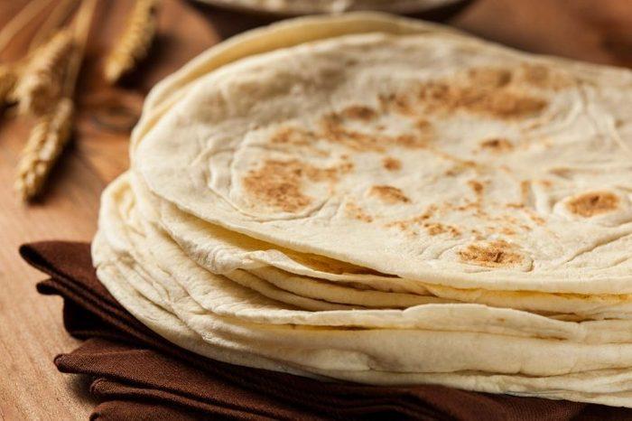 stack of flour tortillas