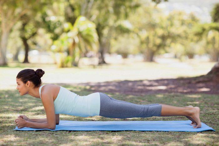 yoga plank pose