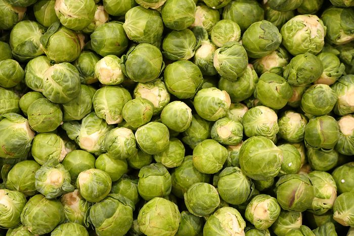 Close up of brussels sprouts