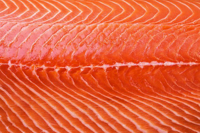 Close up of salmon filet