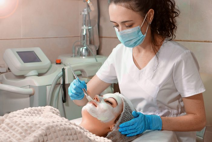 young woman getting a skin care treatment