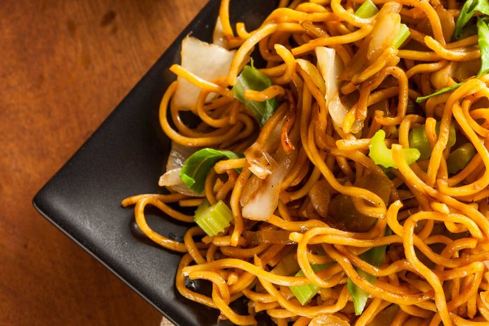 plate of Asian noodles
