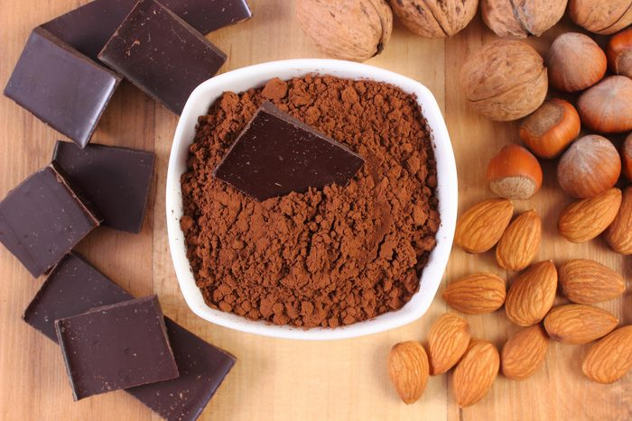 Chocolate and nuts.