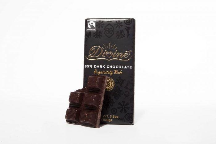 Healthy dark chocolate snack to eat at work.