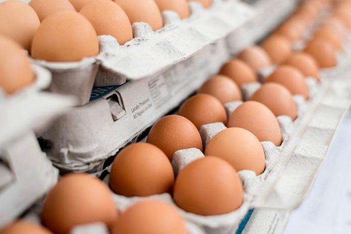 cartons of brown eggs