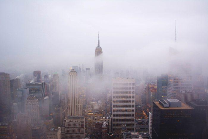 wintry New York skyline