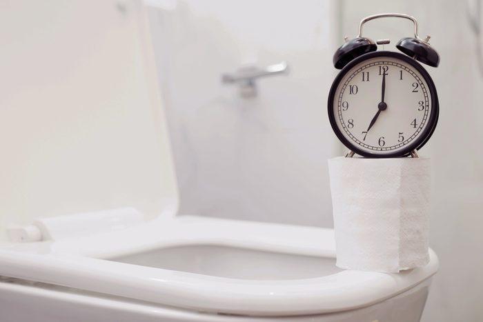 clock on toilet