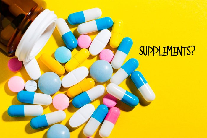 Variety of tablets, capsules, and pills.