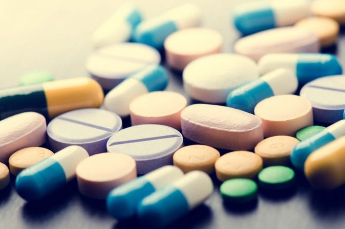 variety of tablets and pills for allergy on a table