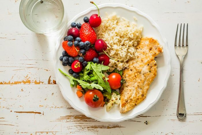plate with healthy food